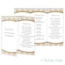 4-Page Wedding Program Template With Vintage Typography | Pinterest ...