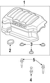 com acirc reg saturn outlook engine appearance cover oem parts 2008 saturn outlook xr v6 3 6 liter gas engine appearance cover