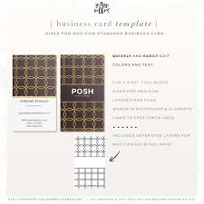 Gold Foil Business Card Template - Moo Template - Moo Gold Foil ...