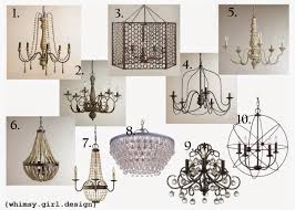 whimsy girl friday finds chandeliers under