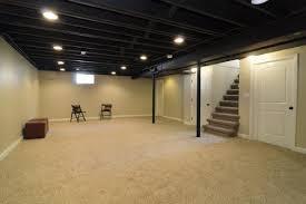 exposed ceiling lighting basement industrial black. open basement ceiling painted black sleek industrial look exposed lighting c