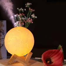 <b>880mL Air Humidifier</b> 3D Moon Lamp Aroma Essential Oil Diffuser ...