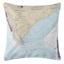 Va Newport News Va Nautical Chart Pillow