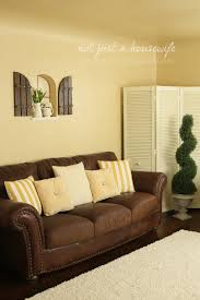 Yellow Brown Living Room Simple Small Living Room Design With Yellow Wall Painting Vintage