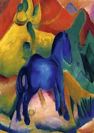 blue horses painting franz marc blue horses art painting