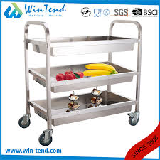 china square 3 tiers stainless steel deep shelves trolley for cleaning and collecting with 4 wheel china deep shelves trolley stainless steel
