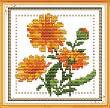 Cross Stitch Flower Patterns Gorgeous Joy Sunday Floral Style Twelve Months Flower October Design Chart