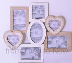 chic shabby large 7 multi collage wooden photo frame