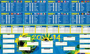 World Cup 2014 Guide Print Off Your Brilliant Wallchart For
