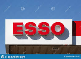 Gas Station Logo Esso Logo On A Gas Station Editorial Photo Image Of Corporate