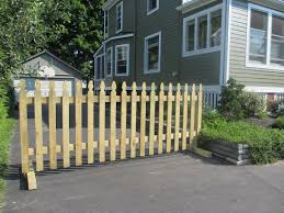 Sturdy gate at the end of your driveway keeps your kids in other
