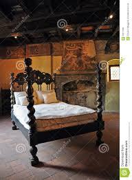 Medieval Bedroom Furniture Medieval Castle Bedroom Wooden Bed Stock Photo Image 59217260