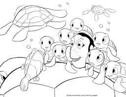Coloring Pages Disneys Finding Nemo Crush Squirt Telling Stories