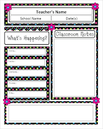 Word Template For Newsletter Classroom Newsletter Sample Ms