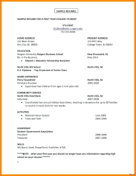 College Scholarship Resume Examples Best Of Freshman College Student