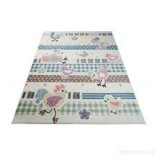 tapiso area rug in cream multicoloured animal pattern roosters play mat diffe sizes high quality short pile happy collection carpet 200 x 290 cm
