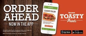 Quiznos Sandwich Restaurants Contact Us Feedback