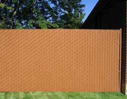 Wonderful Chain Link Fence Slats Vinyl Wood Along The Side And Decor