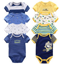 <b>6PCS</b>/<b>LOT Newborn Baby</b> Clothes Short Sleeve Girls Boy Clothing ...