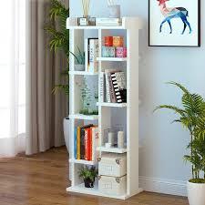 tree shape display shelf bookshelf bookcase stand rack cd book storage white