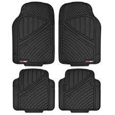flextough mt 774 black heavy duty 4 piece all weather rubber car floor mats