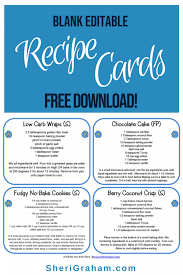 Blank Editable Recipe Cards - 1, 2 & 4 Card Versions {Free Download ...