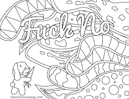 Small Picture Free Printable Coloring Page Fuck No Swear Word Coloring Page