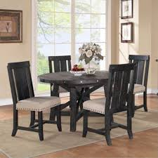 yosemite 5 piece round set round table with 4 wood side chairs bernie phyl s furniture by modus furniture international