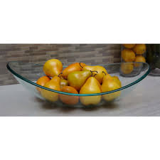 boat shaped clear glass decorative bowl 72287 the home depot