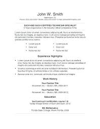 Free General Resume Templates General Resume Template