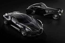Unveiled at the 2019 geneva motor show it joins the divo as a derivative from (.) despite the unique bodywork and detailing, the la voiture noir remains a standard chiron under the hood, so performance is similar to the vehicle it. Priced At Rs 132 Crore Bugatti La Voiture Noire Is The World S Most Expensive New Car Ever Made