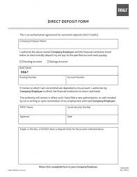 Direct Deposit Authorization Form Inspiration Bg44 Direct Deposit Forms Form Exceptional Templates Quickbooks Pdf