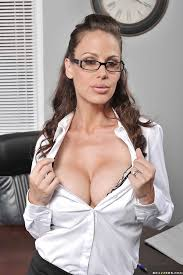 Glasses big boob secretary