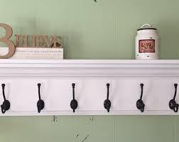 satin chrome hooks wall hanging shelf