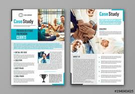 Case Study Template Business Case Study Layout With Blue Accents 1 Buy This Stock