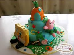 Heres A Spongebob Cake I Made For A Client Inspiration Was From A