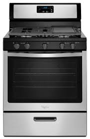 whirlpool 5 burner 5 1 cu ft freestanding gas range stainless steel