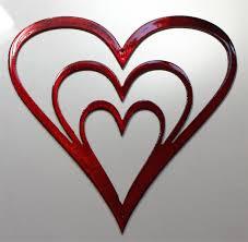 red metal heart wall art