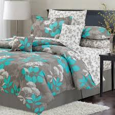 simple bedroom with gray teal bedding decor teal fl pattern in gray comforter sets