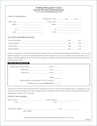 Photography Contracts Wedding Photo Contracts Template New Contract For