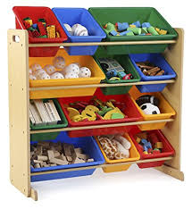 kids toy storage furniture. Tot Tutors Kids\u0027 Toy Storage Organizer With 12 Plastic Bins,  Natural/Primary ( Kids Toy Storage Furniture T