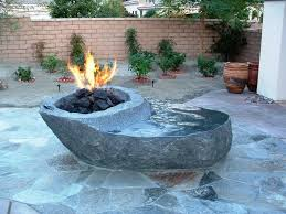 outdoor propane fire pit with glass rocks grill ideas in remodel 19
