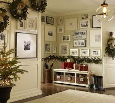 Apartment:Natural Wooden Bench On The Small Apartment Entryway With Several  Racks And Classic Painting