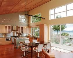 high ceiling lighting kitchen