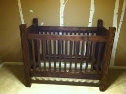solid wood baby furniture. handmade rustic style solid wood crib dark stain on etsy 105000 baby furniture s