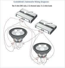 wire two amps 2 subs wiring diagram car audio 1 ohm dual