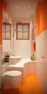 Badezimmer Kleine Original Badewannen Design Geschwungene Orange