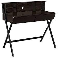 steel office desk. 1perfectchoice wood storage hutch and drawers desk with steel legs in dark walnut office 6