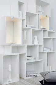 white wall storage.  Wall Awesome Wall Storage Cubes Spray Painted White  Display Living Room Inside