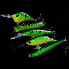 <b>5pcs</b>/<b>Lot</b> Mixed Minnow/Crank/<b>Popper</b>/Prncil/VIB Fishing Lures Set ...